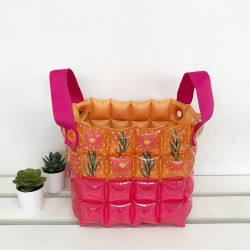 Basket Square Shape-S-Daisy Red