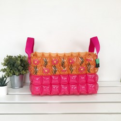 Basket Square Shape-L-Daisy Red