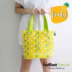 Hand Carry Bag-M Dimond-Pineapple Fruity