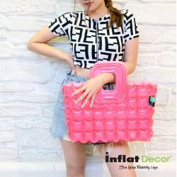 Shopping Bag-S-Neon-Hot pink