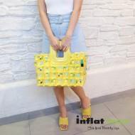 Shopping Basket-S-Pineapple yellow