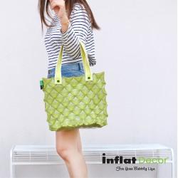 Hand Carry Bag-M Diamond-Pastel Green