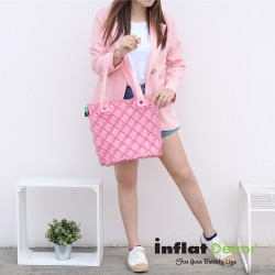 Hand Carry Bag-M-Pastel Peach pink