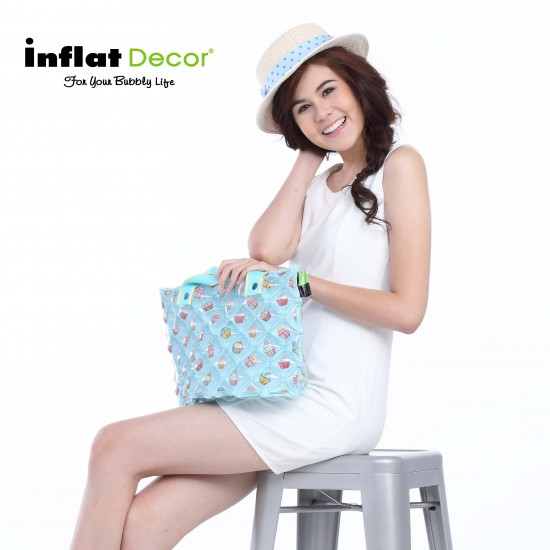 Inflatable Hand Carry Bag -S - Cup cake Lavender