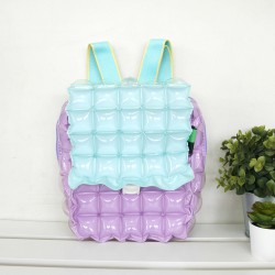 Backpack Square Shape with Lid-Two Tones-SP+MG