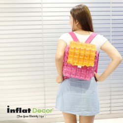 Backpack Square Shape with Lid-Two Tones-MO+PP