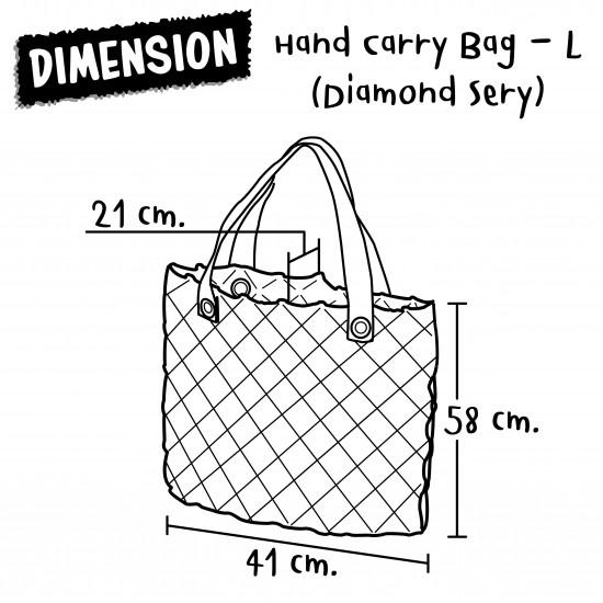 Hand Carry Bag-L (Daimond Sery)-TwoTones-SP+MG