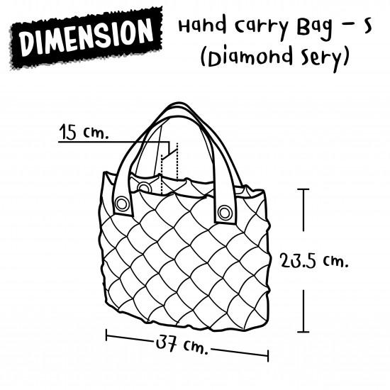 Hand Carry Bag-S Diamond-Pastel Blue