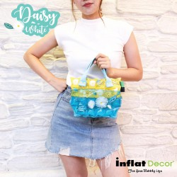 Hand Carry Bag-XS with Pocket-Daisy White