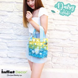 Hand Carry Bag-S with Pocket-Daisy White