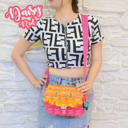Tote Bag Postman-S-Daisy Red