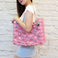 Tote Bag-M Slope-Water melon pink