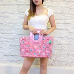 Shopping Basket-S-Water melon pink