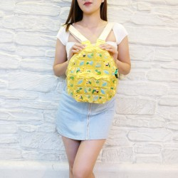Backpack Oval Shape-S-Pineapple yellow