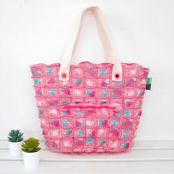 Tote Bag-I Bag-Watermelon pink